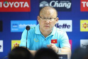HLV Park Hang Seo lý giải cách bố trí đội hình ĐT Việt Nam trước Thái Lan