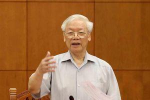 Tổng Bí thư, Chủ tịch nước Nguyễn Phú Trọng chủ trì họp Tiểu ban Văn kiện Đại hội Đảng