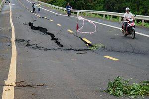 Tìm nguyên nhân đường 250 tỷ nứt toác như động đất khi mới hoàn thành