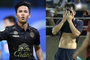 Ngoại hình cầu thủ Thái có pha bóng đe dọa khung thành của Văn Lâm
