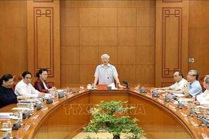Tổng Bí thư, Chủ tịch nước Nguyễn Phú Trọng chủ trì Cuộc họp Tiểu ban Văn kiện Đại hội XIII của Đảng