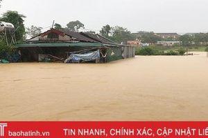 Tình trạng ngập lụt sâu tiếp tục diễn ra tại Hà Tĩnh