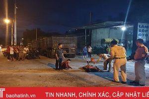 Vợ chủ gara ôtô ở Hà Tĩnh chết thảm dưới gầm xe đầu kéo khi chui lấy kích
