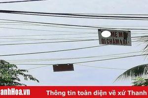 Xuất hiện biển cảnh báo khiếm nhã, thô tục trên đường Lý Nhân Tông (TP Thanh Hóa)