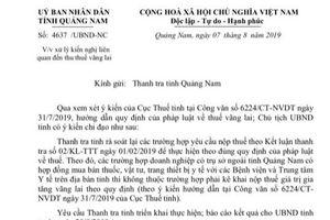 Thanh tra tỉnh Quảng Nam không miễn 10,5 tỷ thuế vãng lai cho doanh nghiệp