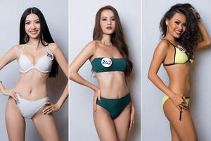 Dàn thí sinh Hoa hậu Hoàn vũ Việt Nam khoe body bốc lửa với bikini