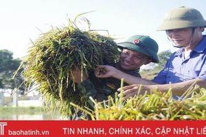Gần 1.000 cán bộ, chiến sỹ BCH Quân sự Hà Tĩnh giúp nhân dân khắc phục hậu quả sau lũ