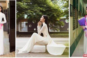 Hoa hậu, Á hậu lộng lẫy duyên dáng áo trắng sân trường