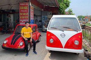 Nam sinh cấp 3 lắp ráp ôtô điện dáng Volkswagen ở Nam Định