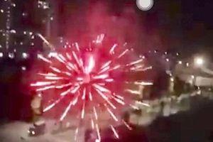 Pháo hoa bất ngờ nổ giữa đêm ở KĐT Thanh Hà, cư dân hoảng hồn