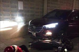 Mâu thuẫn, người đàn ông lái ô tô tông 2 người bị thương nặng