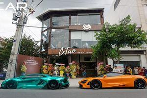 Dàn siêu xe trăm tỷ khai trương nhà hàng Cường Đô la