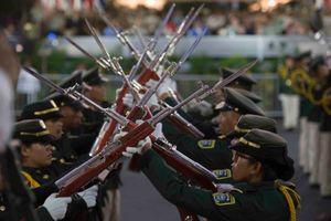 Điểm lạ lùng trong cuộc duyệt binh hoành tráng của Nicaragua