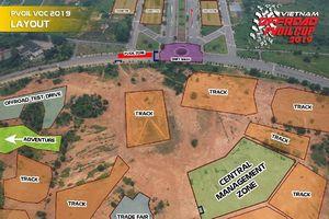 Sơ đồ khu vực đường đua Giải PVOIL Cup 2019