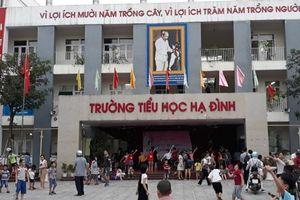 Nhiều học sinh trường Tiểu học Hạ Đình không đến trường sau hỏa hoạn