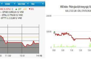 HNX-Index mất mốc 100 điểm, VN-Index lùi về sát mốc 970 điểm