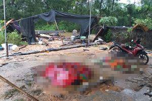 Tường rào đổ sập trong đêm mưa, 3 thợ xây chết thương tâm