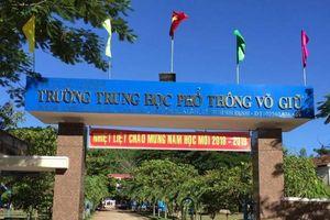Trường THPT Võ Giữ để thu trái quy định hơn 700 triệu đồng