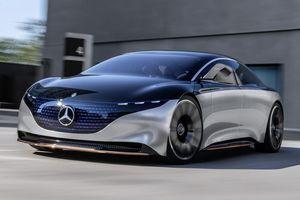 Mercedes Vision EQS dạy cho Tesla bài học về sedan điện hạng sang