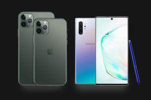 iPhone 11 Pro Max đọ thông số Galaxy Note10+