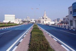 Đường phố Doha chuyển màu xanh