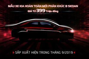 Kia chính thức nhận đặt hàng mẫu xe Soluto, giá từ 399 triệu đồng