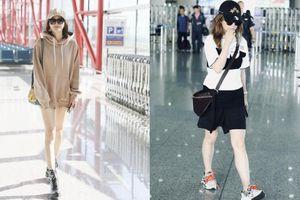 Có lẽ Triệu Vy nên học 'Phú sát' Tần Lam cách diện đồ thời trang sân bay sao cho trẻ trung hơn