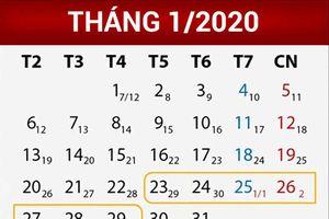 Trình Chính phủ phương án nghỉ Tết Nguyên đán 7 ngày