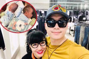 Trương Nam Thành khoe ảnh hai con sinh đôi với vợ đại gia hơn 15 tuổi
