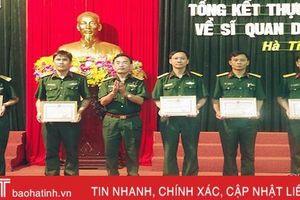 Đơn vị nhận quân đánh giá cao chất lượng nguồn sĩ quan dự bị của Hà Tĩnh