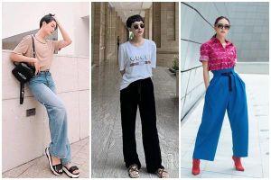 Đào Bá Lộc học hội chị em cách hack chân dài trông như cao m8 với chiếc quần jeans ống rộng