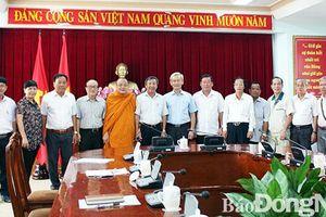 Gặp gỡ đoàn đại biểu tham dự Đại hội MTTQ Việt Nam lần IX