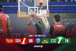 Cantho Catfish xuất sắc vượt qua Saigon Heat ở game 3 VBA Finals 2019 bất chấp Đinh Thanh Tâm bị chấn thương