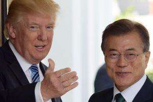 Ông Trump và ông Moon gặp riêng trước đàm phán với Triều Tiên