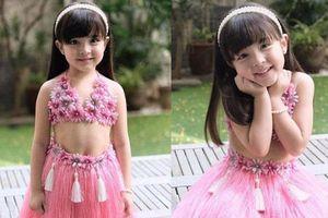 Có ai như con gái mỹ nhân đẹp nhất Philippines, diện váy Hawaii cũng gây bão mạnh vì xinh xuất sắc như công chúa