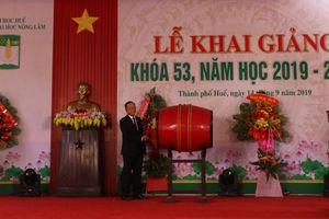 Trường Đại học Nông Lâm Huế khai giảng năm học mới