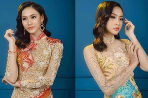 Người mẫu Kim Ngân diện áo dài xuyên thấu 'độc lạ' của NTK Tommy Nguyễn