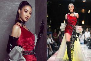 Tân Hoa hậu Lương Thùy Linh lột xác hầm hố, sải bước catwalk thần thái khó nhận ra sau 1 tháng đăng quang