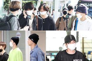 Khoảnh khắc bấn loạn của BTS - EXO và Ong Seong Woo (Wanna One) tại sân bay sáng nay