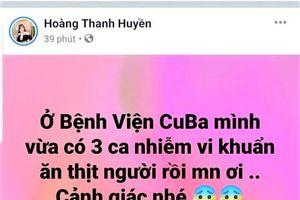 Xử lý người tung tin đồn 'vi khuẩn ăn thịt người' tại Quảng Bình