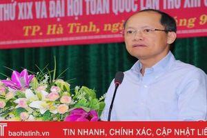 Bám sát kế hoạch, đảm bảo chất lượng, tiến độ tổ chức Đại hội Đảng bộ TP Hà Tĩnh