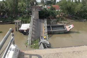 Bắt giam tài xế xe tải gây sập cầu ở Đồng Tháp