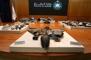 Ả Rập Xê Út trưng mảnh vỡ UAV, tên lửa làm bằng chứng tố Iran
