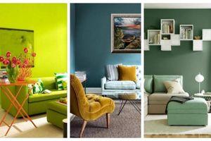 Truyền sự sống tươi mới cho phòng khách nhà bạn với gam màu xanh lá thiên nhiên đầy mơ mộng