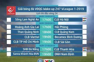 Lịch thi đấu và tường thuật trực tiếp vòng 24 V.League 2019: SLNA - CLB Hà Nội, SHB Đà Nẵng - CLB Thanh Hóa