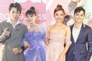 Tùng Maru - Han Sara, Jay Quân - Chúng Huyền Thanh khiến fan bấn loạn khi tay trong tay tham dự họp báo 'Siêu quậy có bầu'