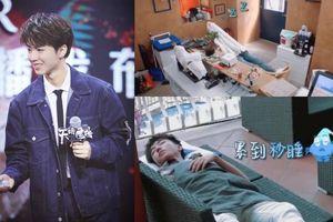 Mệt mỏi đến mức có thể ngủ trong một nốt nhạc, Vương Tuấn Khải làm người hâm mộ đau lòng