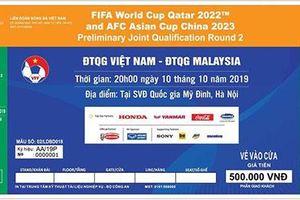 Hôm nay 19-9, bán vé trận Việt Nam - Malaysia