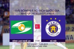 Vòng 24 V-League 2019: Hà Nội FC giành chức vô địch ở sân Vinh?