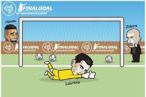 Biếm họa 24h: Keylor Navas cười nhạo HLV Zidane